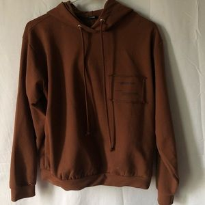 Boohoo chocolate brown hoodie